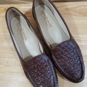 💥5/$25💥Soft Spots Brown Leather Loafers, sz 8N